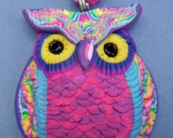 Rainbow  Owl Necklace