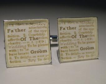 Father of the Groom Wedding Cufflinks