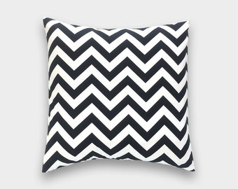 CLEARANCE 50% OFF Black Chevron Pillow Cover Inches Black and White Zig Zag Decorative Pillow