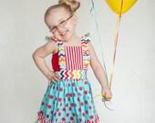 Girls Circus Birthday Dress - Girls Carnival Birthday Dress - Circus Carnival Dress - 1st Birthday outfit - 2nd Birthday -
