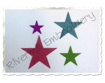 Small Star Machine Embroidery Design - 4 Sizes