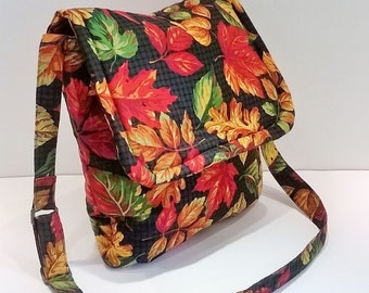 Autumn Leaves Bag - Autumn Messenger Bag - Fall Messenger Bag - Leaves Messenger Bag - Messenger Handbag - Shoulder Bag - Crossbody Handbag