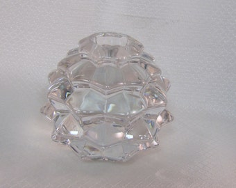 Tiffany & Co. Crystal Pine Cone Candle Holder