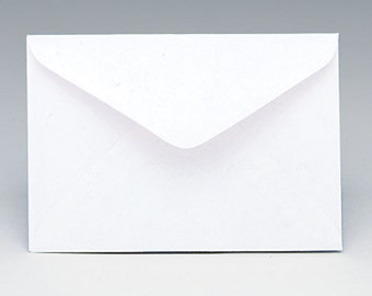 "50ct WHITE Florist Enclosure Card ENVELOPES - Mini Small 2-1/2"" x 4-1/4"" (Free Shipping!)"