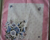 Vtg. Germaine Hanky Daisies Ladybug Butterflies Polka Dots
