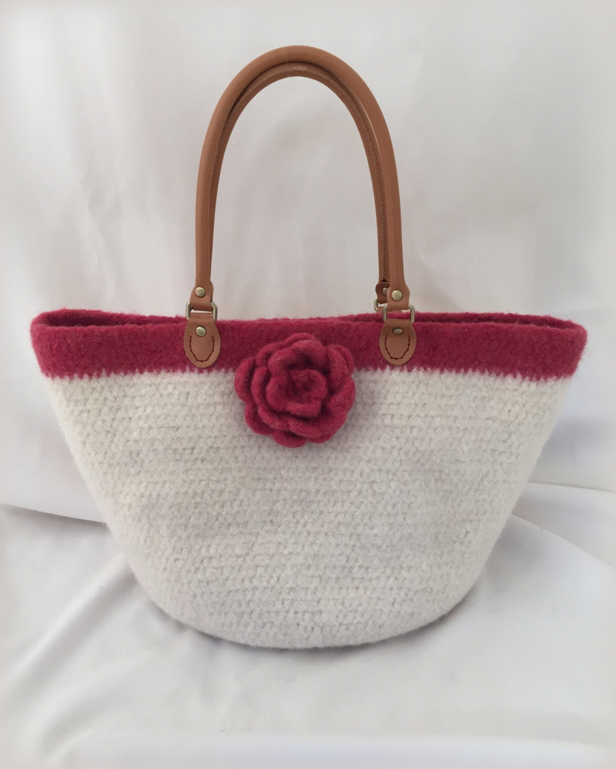 Crochet Felted Tote Bag Pattern : Crochet Purse Pattern Crochet Felted by DeborahOLearyPattern