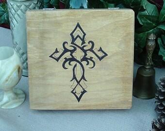 Tribal Cross Keepsake Box