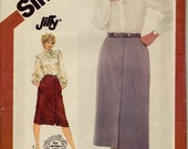 Simplicity 6026 Misses' Jiffy Slim Skirt in Two Lengths Pattern, UNCUT, Size 16-18-20, Plus Size, Vintage 1983, work Wear, Factory Folds