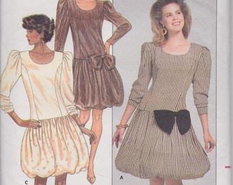Butterick 5869 Misses' Dress Pattern, UNCUT, Size 6-8-10, Vintage 1987, Retro, David Warren, Easy, Balloon Skirt, Evening Wear, Wedding