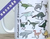 SECONDS - Dinosaur Alphabet Mug - Dinosaurs, Prehistoric