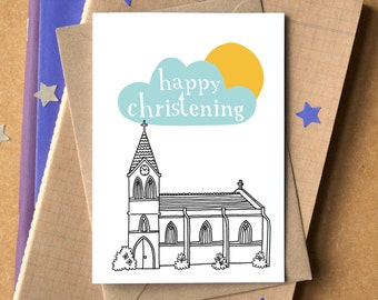 Personalised Christening Card - Confirmation Card - Baptism Card - card for christening - card for baptism - card for confirmation