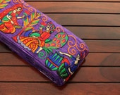 1 Yard-Purple Silk Fabric Trim-Silk Sari Border-Art Quilt Fabric-Sari Fabric Trim-Embroidered Fabric Trim-Pink Silk Ribbon Trim By The Yard