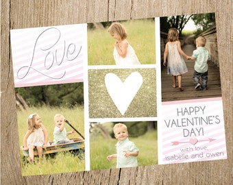 Photo Collage Valentine's Day Card- Digital