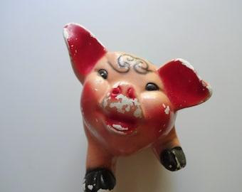 Vintage Chalkware Piggy Bank 1950s