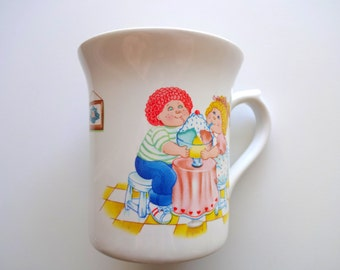 Vintage Cabbage Patch Kids Coffee Mug 1984