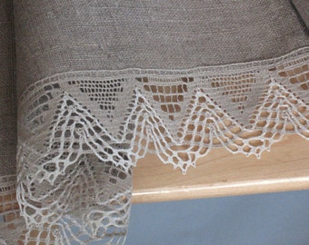 Round Tablecloth Wedding Tablecloth Lace Tablecloth Linen Tablecloth Burlap Tablecloth Prewashed Linen Lace