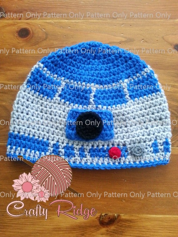 Friendly Robot Hat Pattern Pattern Only by CraftyRidge on Etsy