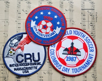 Vintage US 1980's Soccer Patches.