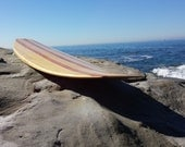 """7'-6"""" Custom Hollow Wood Surfboard"""