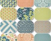 Rag Quilt Any Size - Flora Eucalyptus - Joel Dewberry - King Queen Full Twin xl Throw  -  Blue - Green - Orange - Handmade Bedding