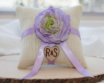 Ring bearer pillow with matching ribbon You personalize with choice of flower