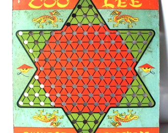 Vintage Coo Lee Chinese Checkers Board Only