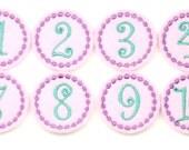 UNCUT Felties, Numbers, Baby, Monthly Milestones, Baby Girl, Feltie, Wholesale, Supplies, Birthday Numbers, Feltie Designs, DYI, Hairbows
