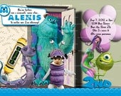 Personalize MONSTERS INC Invitation, Monsters Inc Party - Make your child BOO