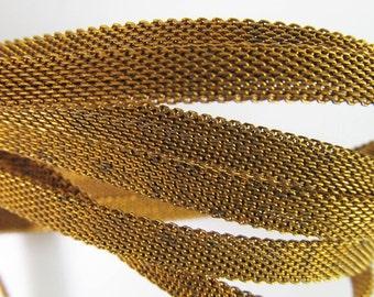 4 Ft Vintage 6mm Mesh Brass Chain Ch242