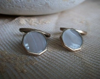 Vintage French Goldtone CuffL inks 1950s Boutons de Manchettes Wedding Mariage