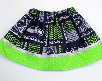 Seahawks Girls Skirt, 12th Man Seahawks Skirt for Toddler-Size 9/10 Girls, Team Skirt