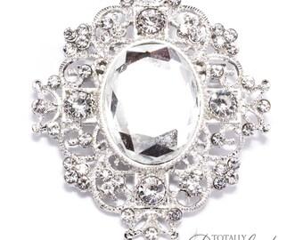 1pc Wholesale Wedding Rhinestone Crystal Brooch Embellishments, Brooch 409-S