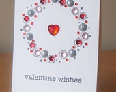 Valentine Bling Wreath Card