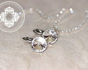 Swarovski Earrings, Bridesmaids, Weddings, Women's accessories, Wedding Jewellery, Crystal earrings