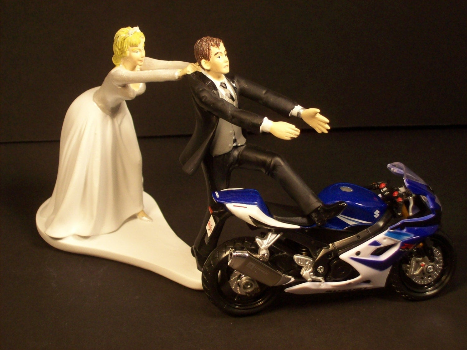 funny motorbike wedding cake topper come back suzuki gsx r and groom motorcycle 14558