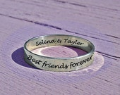 Reserved for Adiah, Best friends ring, 3.5 mm, best-friends ring, stacking ring, stacking ring, personalized quote, pinkie ring