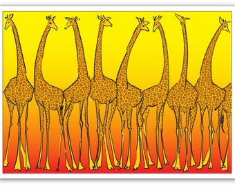 Greeting Card – Giraffes