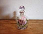 Vintage Hand painted Czech Perfume Bottle marked Czechoslovakia