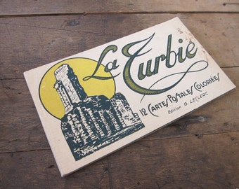 Vintage Album of La Turbie 12 Color Detachable Postcards, Edition G LeClerc