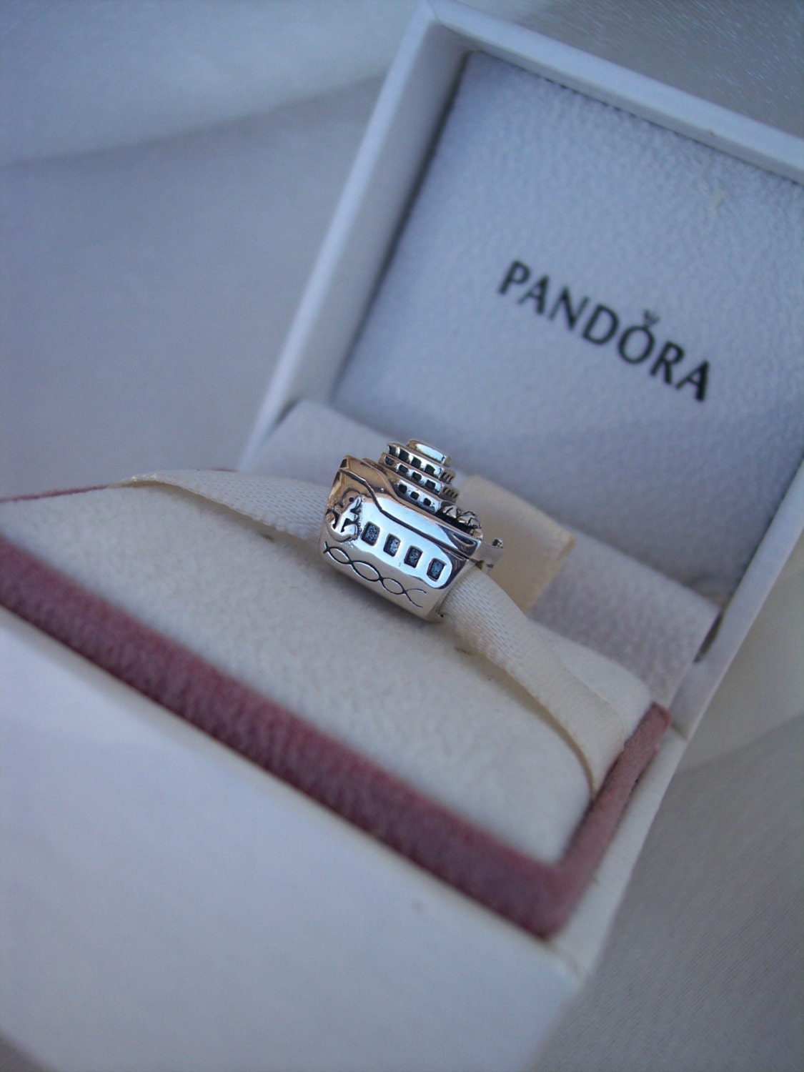 Pandora All Aboard Cruise Line Ship Charm High By