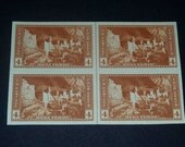 US Stamps N1934 block of 4 National Parks Issues  Cliff palace Mesa Verde Park