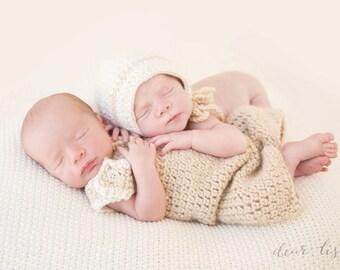 Crochet boy and girl twin set