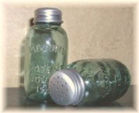 Mason Jar Salt Pepper Shakers New Vintage Antique Style