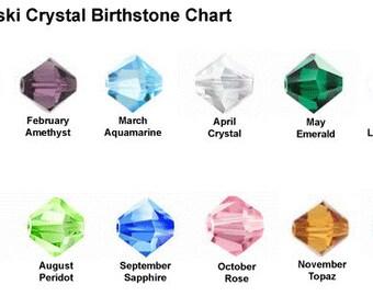 Swarovski Crystal Birthstone Charm