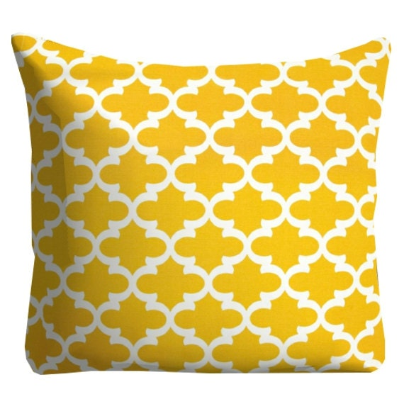 Yellow Outdoor Pillows Yellow Throw by FineFreshDesign on Etsy