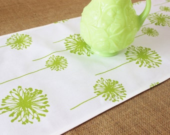Green Table Runner Table Cloth Wedding Runner Buffet Premier Prints Polka Dandelion Buffet Runner Wedding Runner