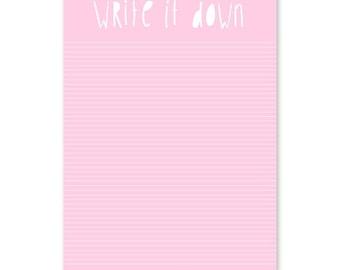 Write it down   Noteblock   Good vibes   Studio Stationery