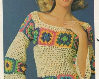 Crochet Pattern, Sweater Pattern, Peasant Top Pattern, Instant Download, Crochet Pullover Pattern,