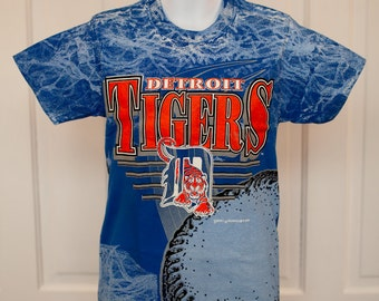 Awesome Vintage 90s Detroit TIGERS Tshirt - Small