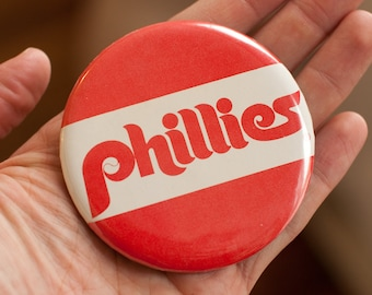 "Big Vintage Phillies Pin - 3.25""+"